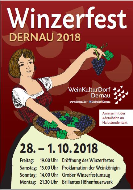 Plakat winzerfest 2018