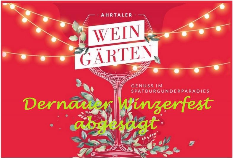 Weingärten Winzerfest abgesagt Plakat groß